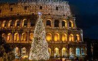 Coliseo en Navidad Roma