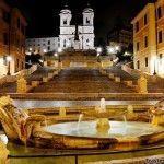 135 peldaños en Piazza di Spagna