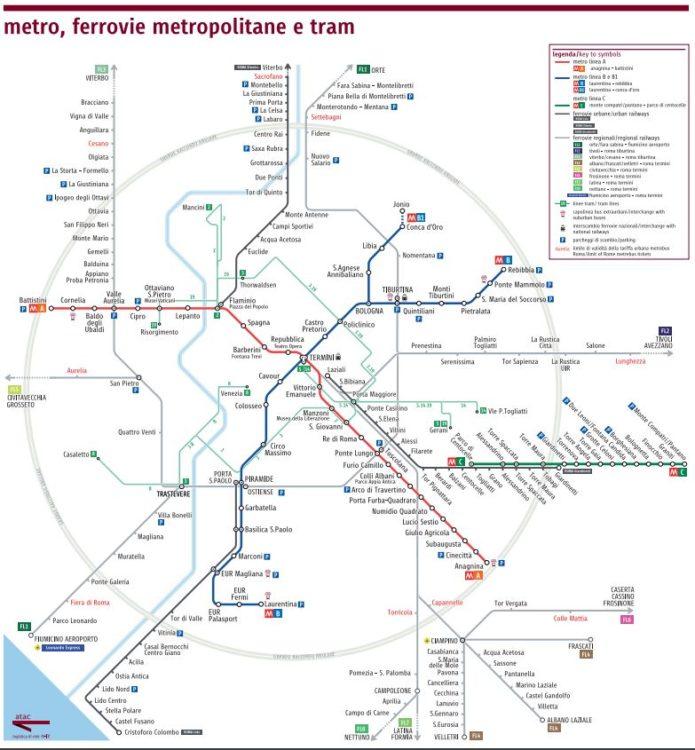 plano de metro de roma