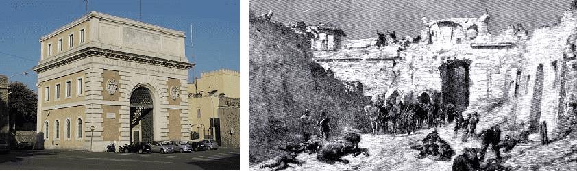 historia de la porta de san pancrazio en el trastevere