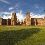 El monumento de las Termas de Caracalla en Roma