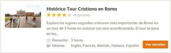Tour Cristiano en Roma